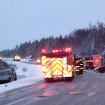 Collision just north of Ghost Lake Closes 101 for several Hours Last Night
