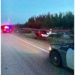 Ultralight lands on Highway 129