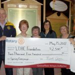Rotary Club of Wawa donates $2,500 to Spring Campaign