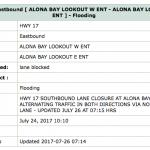 Traffic Delays continue at Alona Bay