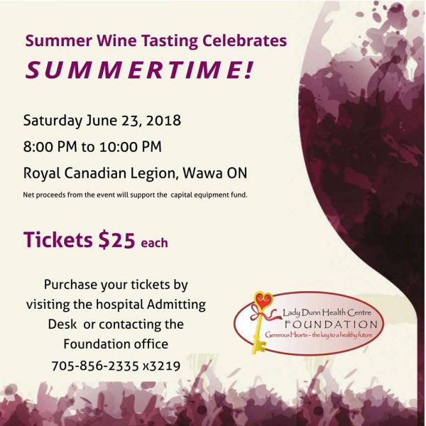 LDHCF Annual Wine Tasting @ Legion Hall | Wawa | Ontario | Canada