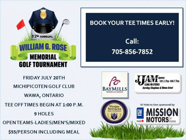 12th Annual William G. Rose Golf Tournament