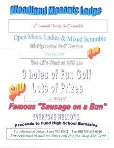 Masonic Lodge Annual Scramble