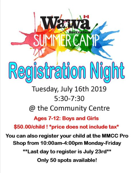 Wawa Recreation Summer Camp - Registration Night @ MMCC