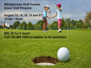 Michipicoten Golf Course Junior Program @ Michipicoten Golf Course