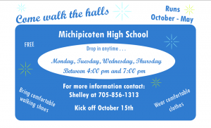 Indoor Walking Program @ Michipicoten High School