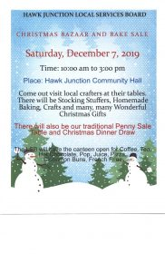 Hawk Junction Christmas Bazaar