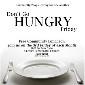 Don't Go Hungry - Community Luncheon @ Calvary Pentecostal Church