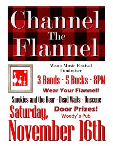 WMF Fundraiser - Channel the Flannel @ Woody's Pub