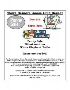 Wawa Goose Club - Christmas Bazaar @ Wawa Goose Club