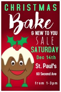 St. Paul's Christmas Bake Sale & New to You Sale @ St. Paul's Anglican Church