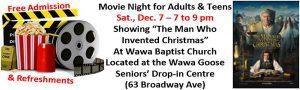 Wawa Baptist Church – Adults & Teen Movie Night