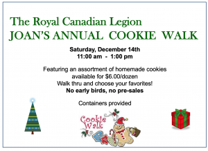 Joan's Annual Cookie Walk