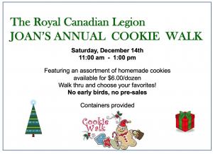 Joan's Annual Cookie Walk