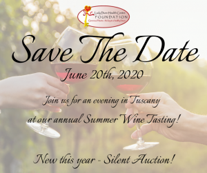 Save the Date - LDHCF Annual Wine Tasting