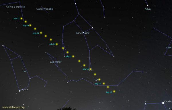 Comet Neowise photographed in Norfolk skies